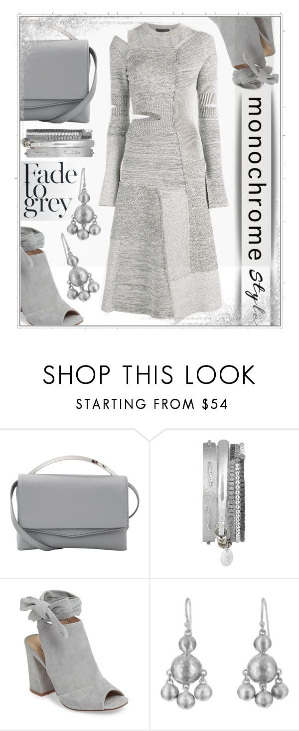 """Gray Days"" by goldenopal ❤ liked on Polyvore featuring Eddie Borgo, Kristin Cavallari, Kothari, Proenza Schouler, monochrome, CasualChic, gray and patchwork"