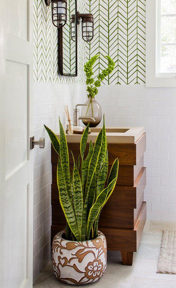 eine entspannende badezimmergestaltung mit pflanzen f rs bad in 2019 bad pinterest. Black Bedroom Furniture Sets. Home Design Ideas