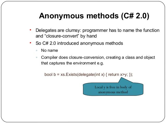 Learn about anonymous classes and methods in C#, Anonymous Type in