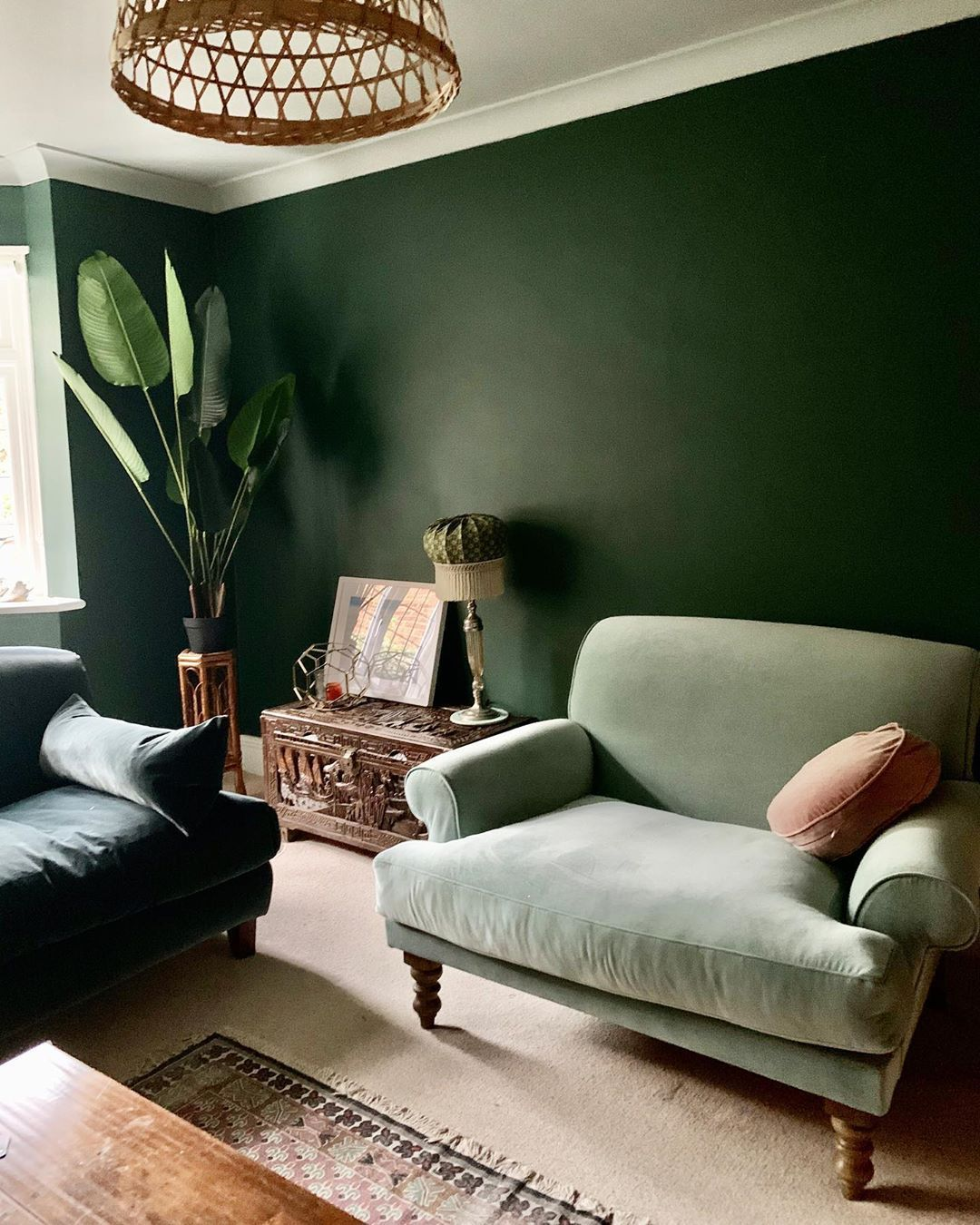 14 Green Living Rooms That Will Inspire You to Go Green