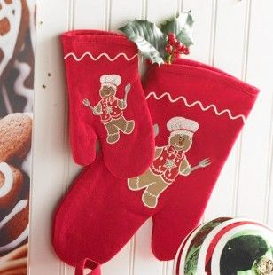 Gingerbread Mitts 2Pc Set