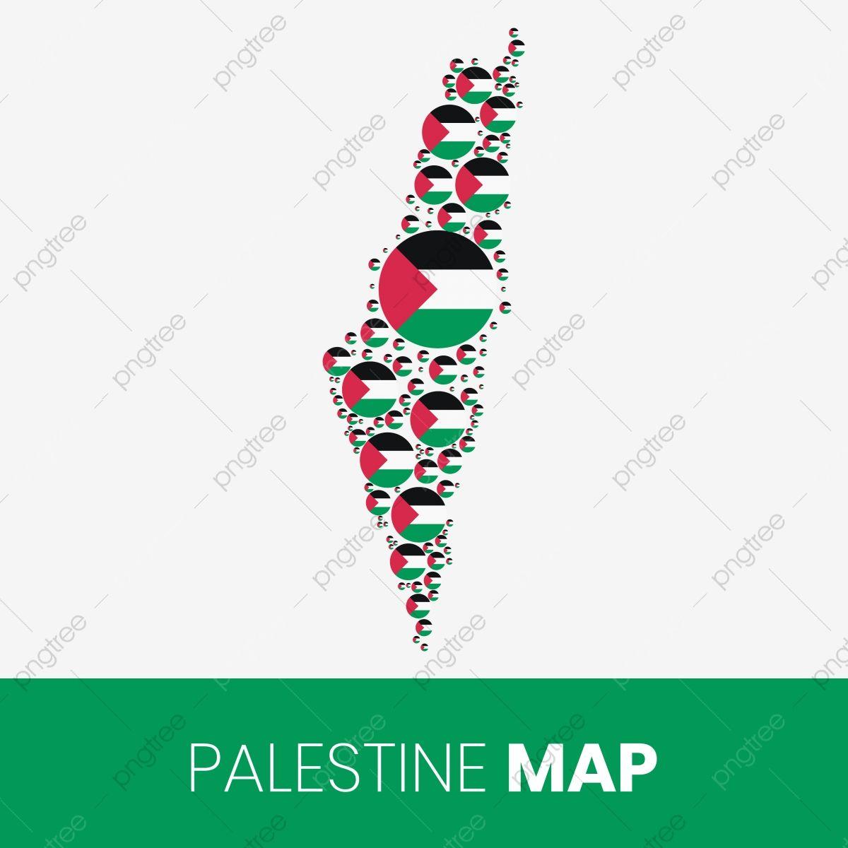 خريطة فلسطين مملوءة بدوائر على شكل العلم خريطة فلسطين مع العلم Palestine Map Map Shapes
