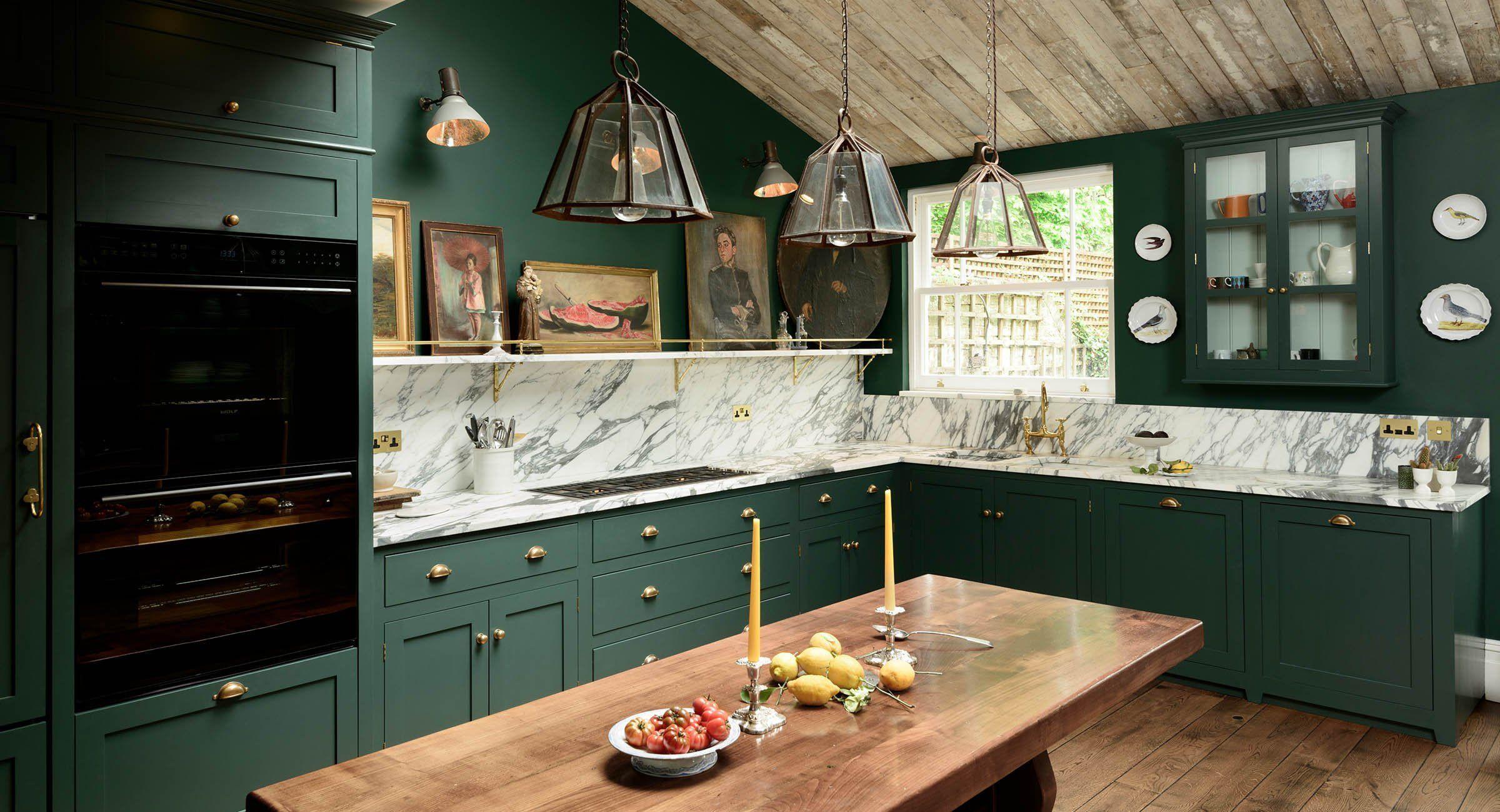 10 Alternative Kitchen Cabinet Colors Everyone S Loving In 2020 Green Kitchen Cabinets Kitchen Cabinet Design Interior Design Kitchen