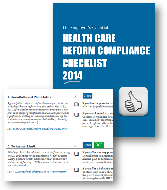 Health Care Reform Aca Compliance Checklist Free To Download