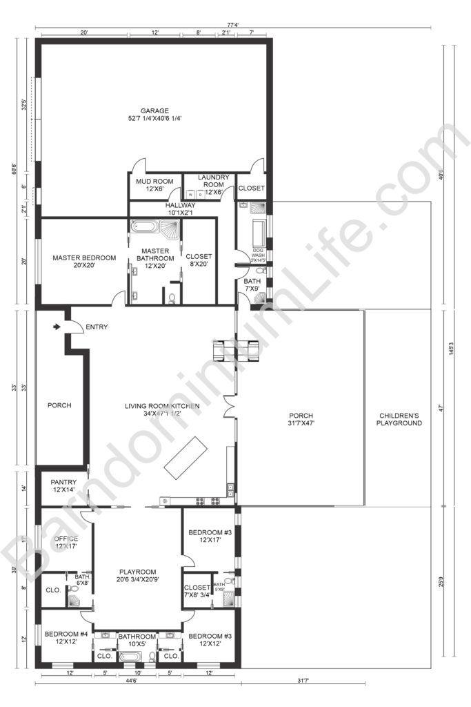 The Absolute Best 5 Bedroom Barndominium Floor Plans