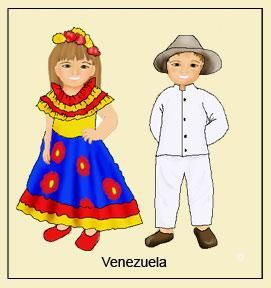 Dibujos trajes tipicos para imprimir