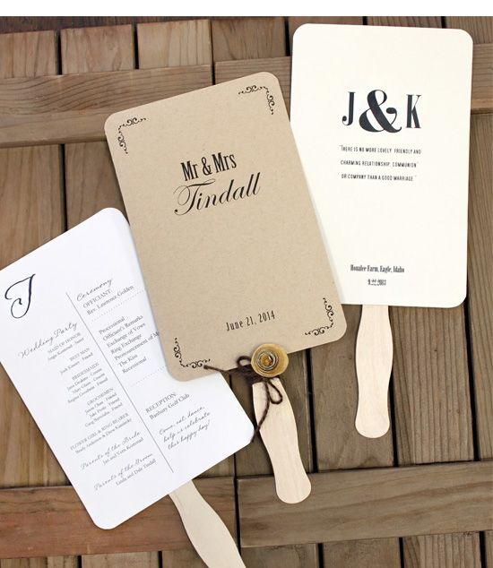 Wedding Program Fan Kit at CraftyStickscom httpwww