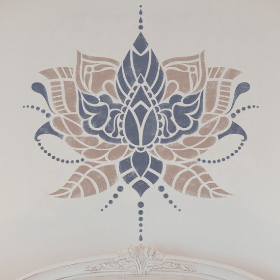 Flor india stencil plantilla de estilo indio muebles for Muebles estilo indio