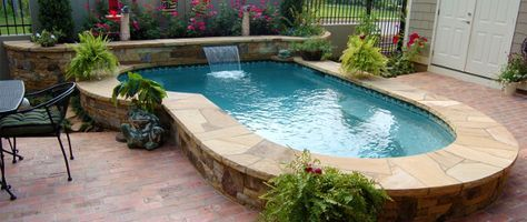 Small Less Expensive Pools Spools Combination Pool Spa