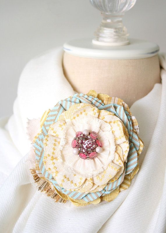 Baby Shower Corsage Mom To Be Gift Pastel by rosyposydesigns