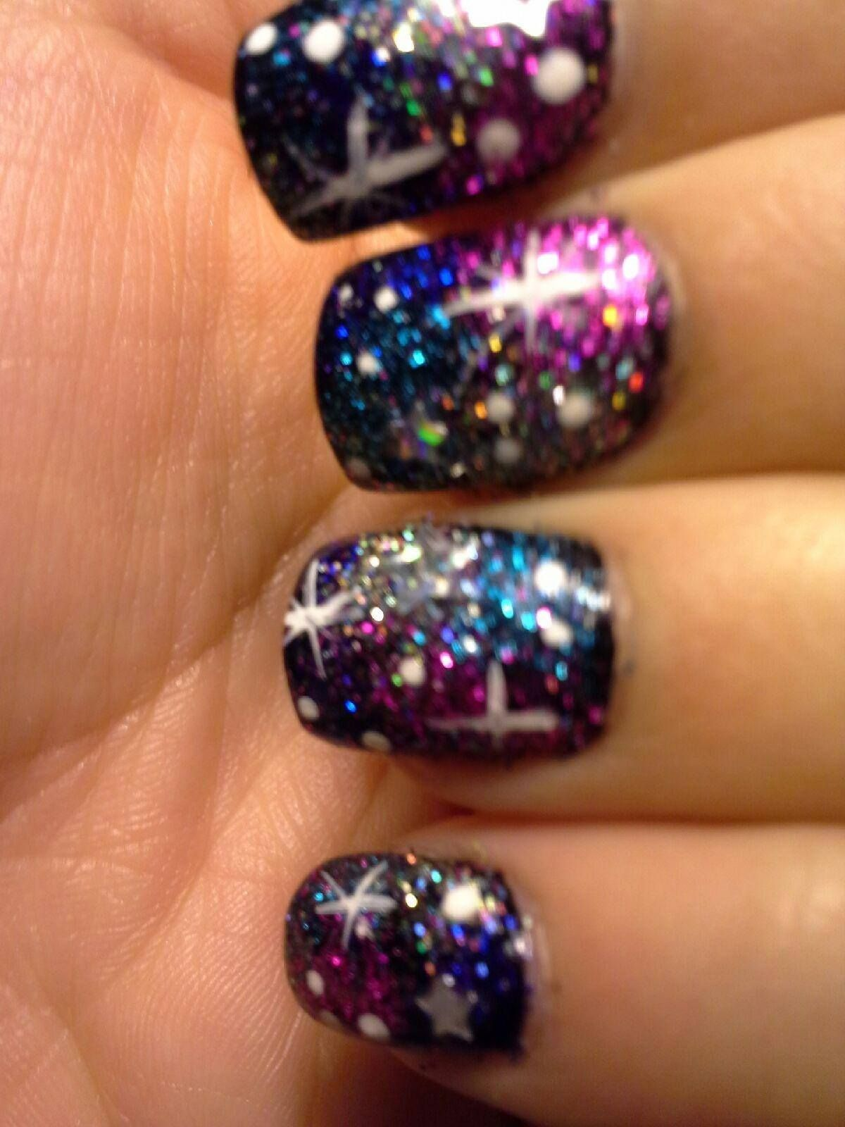 Galaxy Nails done by me! Heather at the Odyssey Salon and Day Spa ...