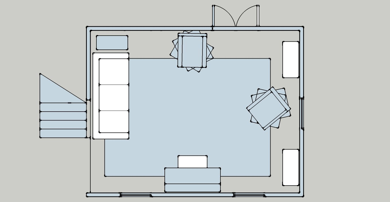 Joy Lansing Layout 2 Aerial View Option For Living Room After Obtaining Some Accent Chairs Black Dining Room Chairs Vintage Chairs Industrial Dining Chairs