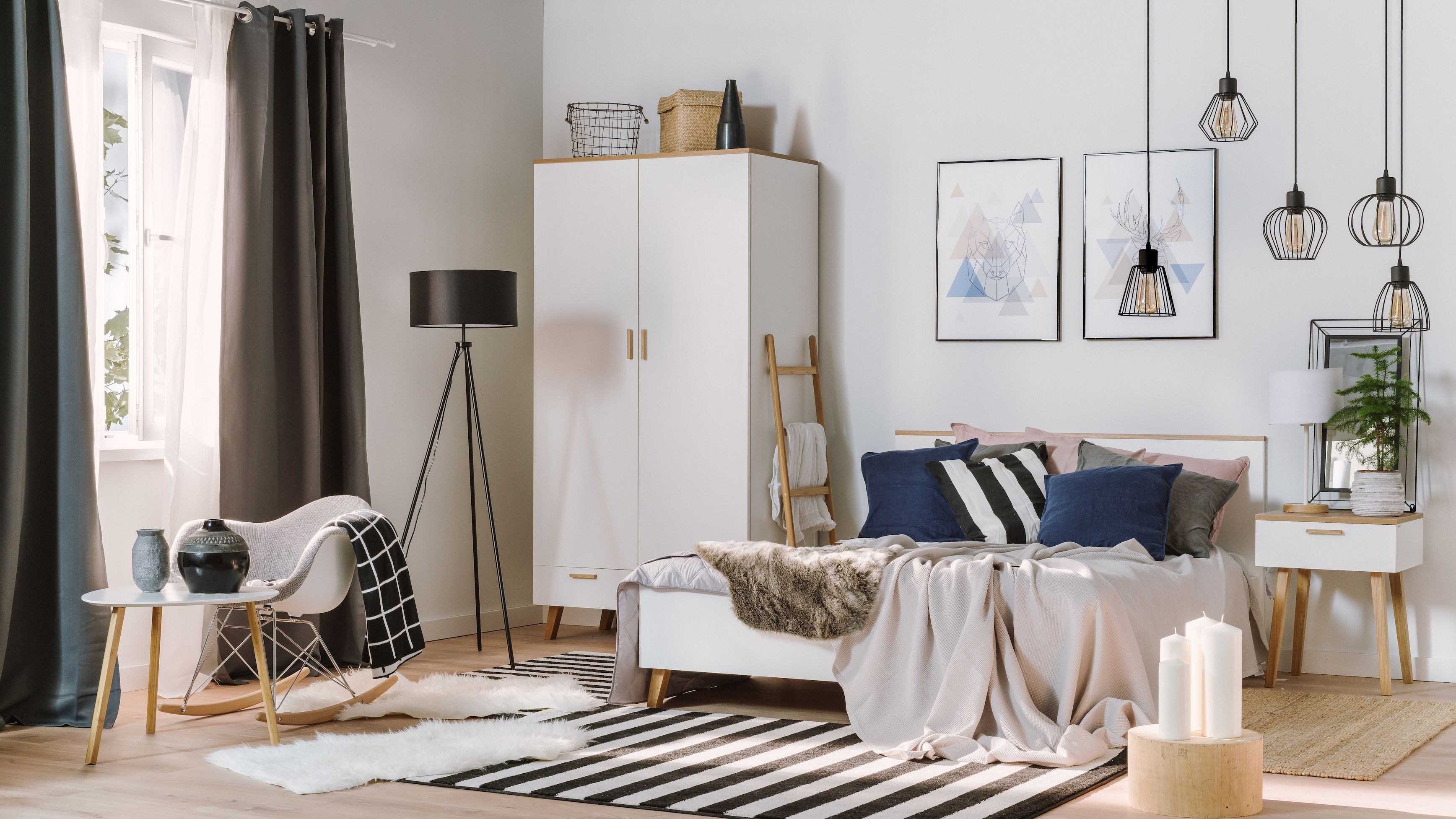 Allegro Wnetrza Sypialnia W Skandynawskim Stylu Sprawdz Wykorzystane Produkty Home Living Room Minimalist Living Room Living Decor
