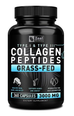Pure Collagen Peptides Collagen Pills 360 Capsules 100 Grass Fed Collagen Protein Powder Collagen Pills Collagen Peptides Collagen Protein Powder