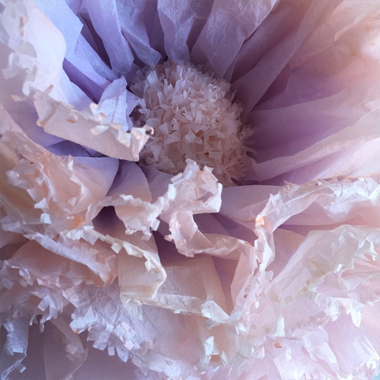 Hand Dyed Amethyst And Rose Gold Giant Peony Pom Paper Flower