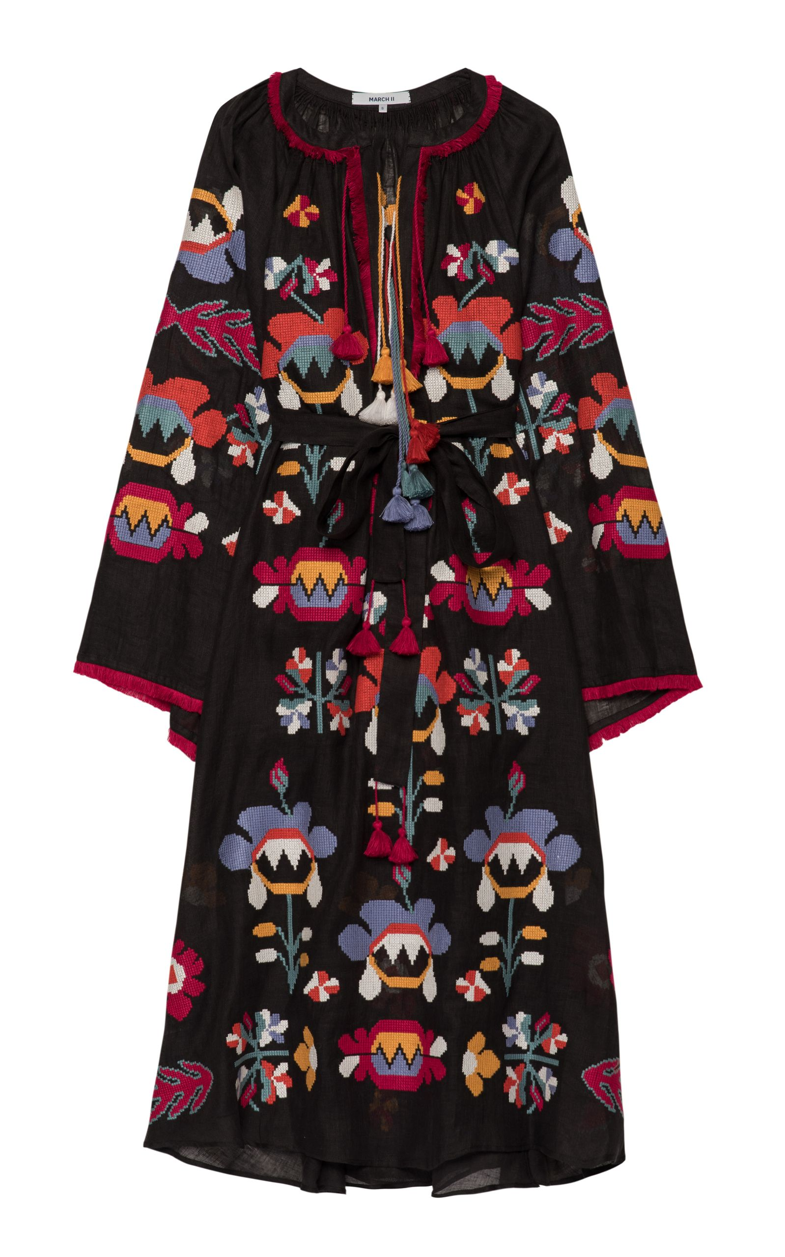 Astrid embroidered maxi dress by march now available on moda