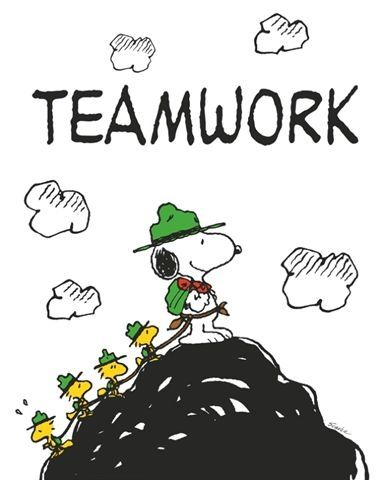 Teamwork Quotes By Snoopy. QuotesGram