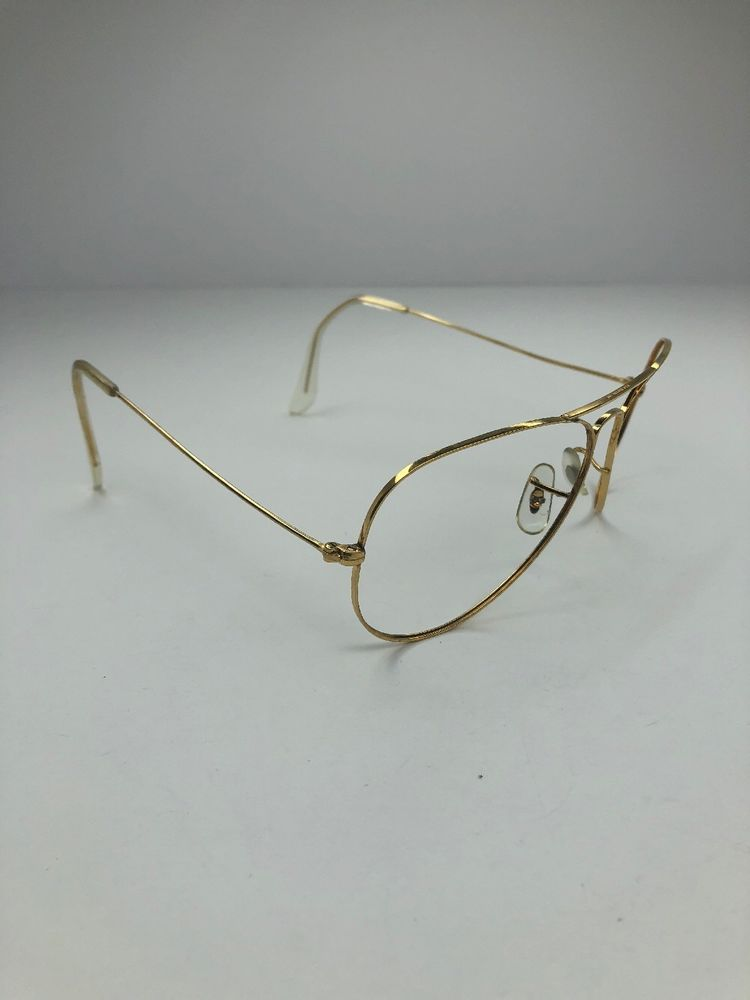 7dc0d30629c8 B L Ray Ban USA 58  14 Gold Aviator Sunglasses   Frames  44  fashion   clothing  shoes  accessories  vintage  vintageaccessories (ebay link)