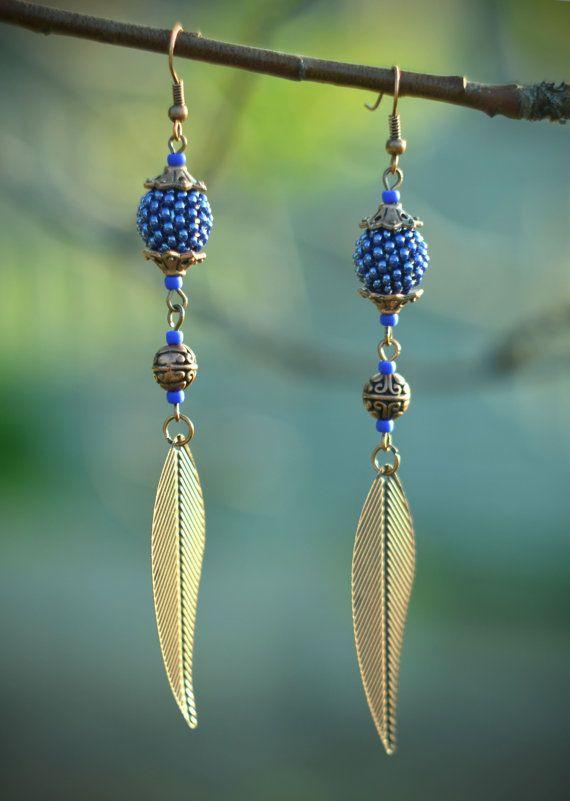 Red earrings Coral red bead earrings girlfriend gift Contemporary modern earrings great gift idea