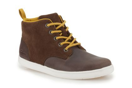 5789afd1f69 Boys Boots - Holbay Hi in Brown Leather from Clarks shoes
