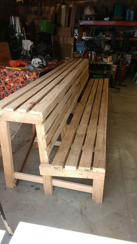 Pleasant Dugout Bench 12 Feet Long From My Workshop Coldwater Ocoug Best Dining Table And Chair Ideas Images Ocougorg