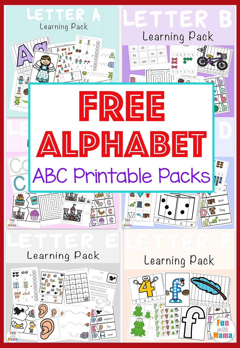 Free Alphabet ABC Printable Packs Abc printables