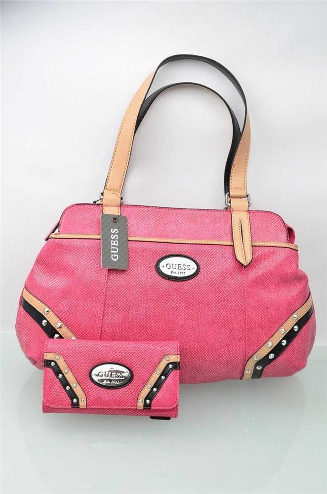 3657f67c461f Guess Purse   Wallet Set Pink Gulfport Satchel Bag Shopper Handbag Clutch  NWT  Guess  Satchel  5Gables