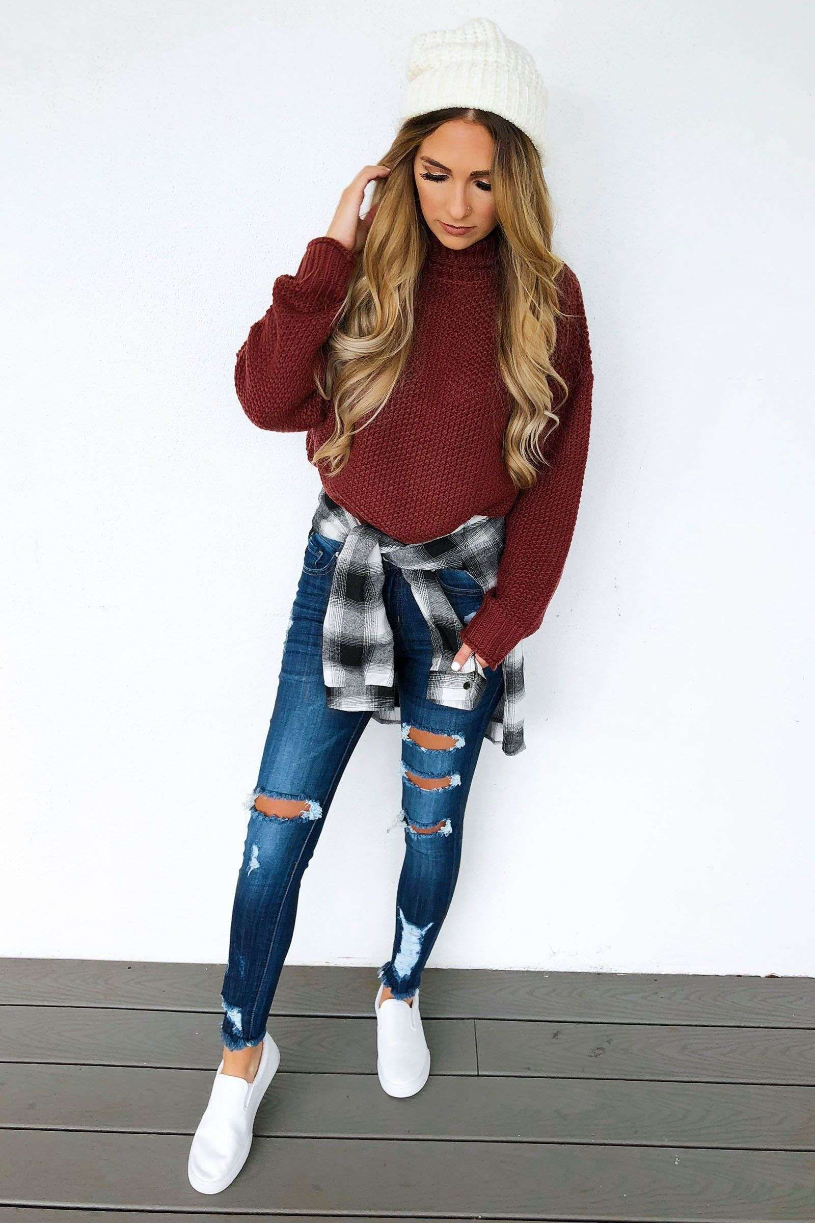 Cute Winter Outfit School Ideas For Teens Cute Sweater Outfits
