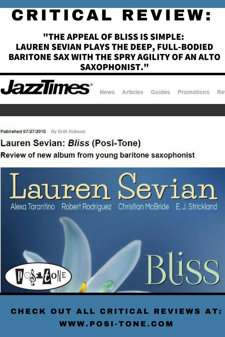 CriticalReview - Says JazzTimes,