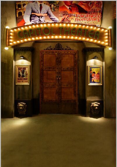 10x10FT Vintage Cinema Capitol Theater Entrance Poster Box
