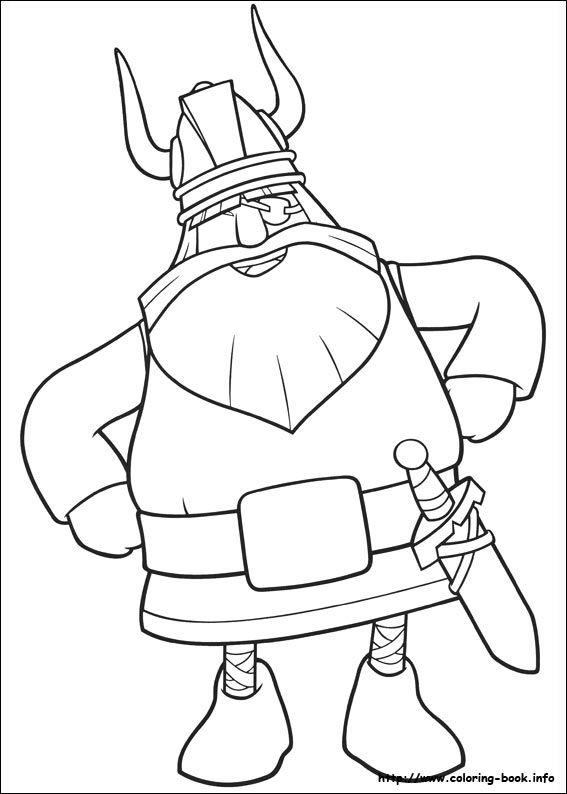 Vicky the Viking coloring picture   Škratki   Pinterest