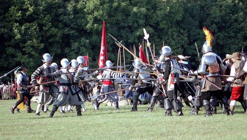 30 Years War in 1620. Battle-of-White-Mountain.  The re-enactment takes place every year in Hvězda .