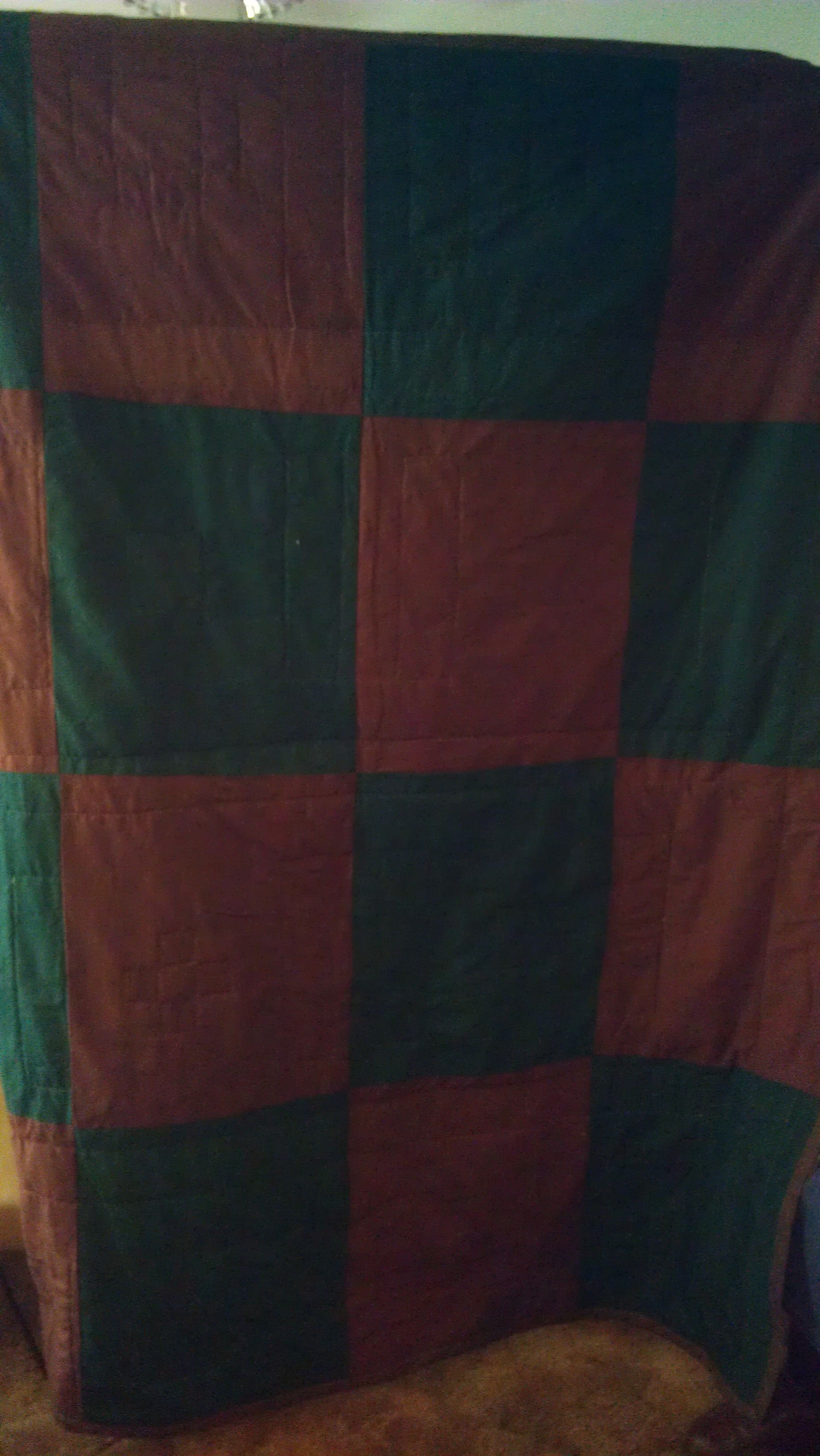 Back of the sample quilt