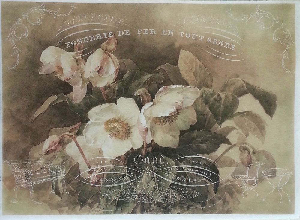 Rice Decoupage Paper / Decoupage Sheets  / Scrapbooking / STORY ROSES / Vintage
