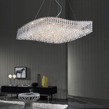 Costco di luce wave shaped 9 light crystal chandelier costcocrystal chandelierswavesdining roomsdining