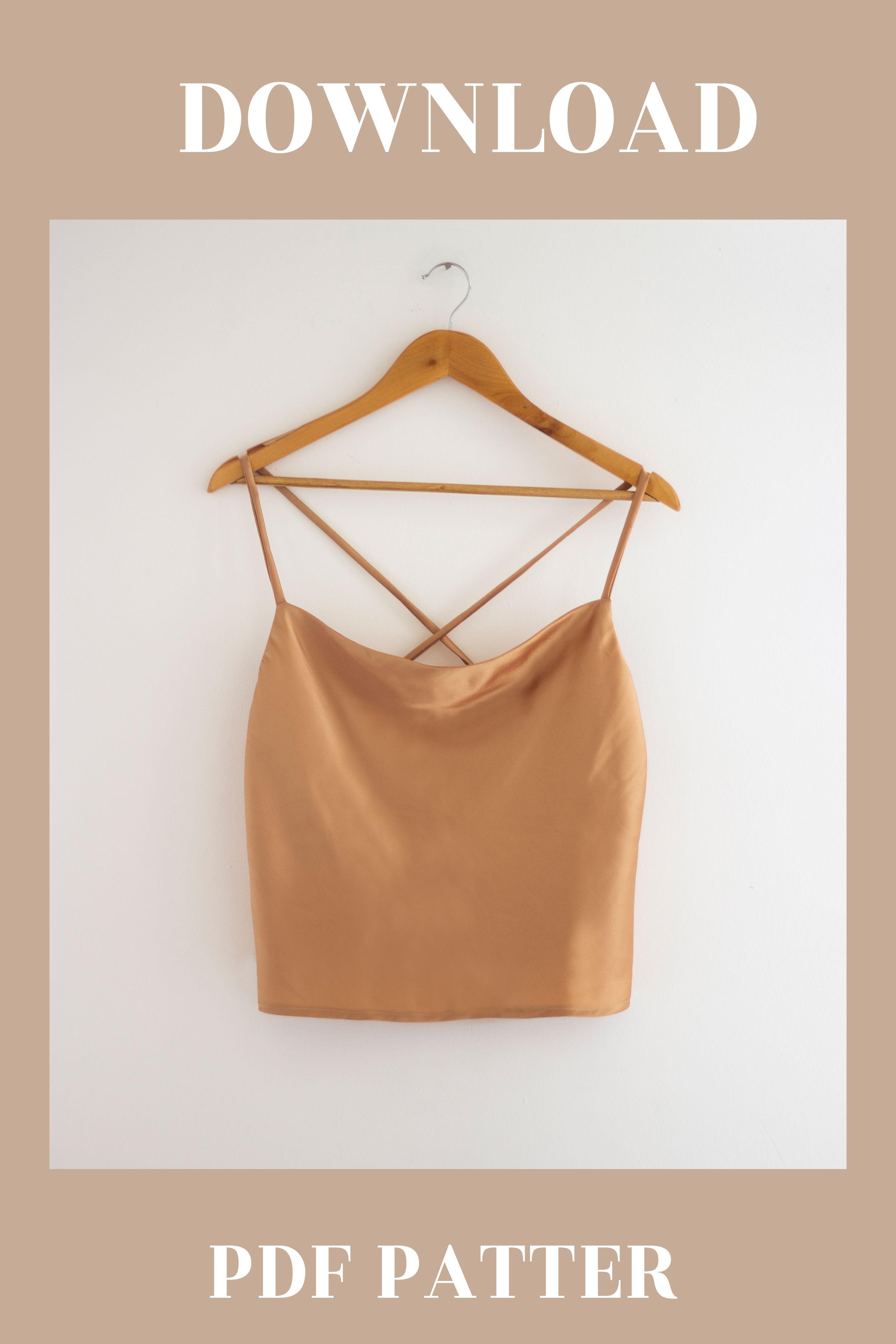 DIY Satin Cami Top + Digital Sewing Pattern Availa