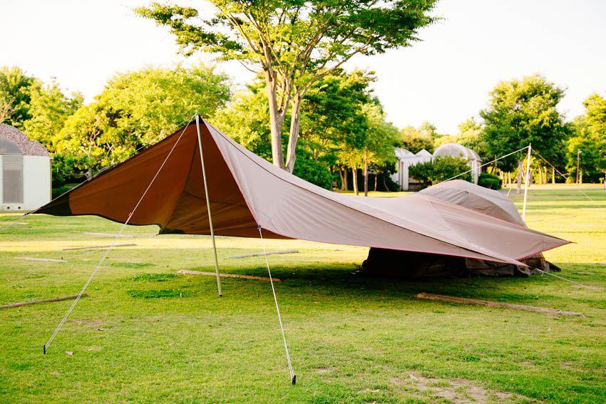 スノーピークのタープ テント 初心者にもオススメの設営方法をおさらい