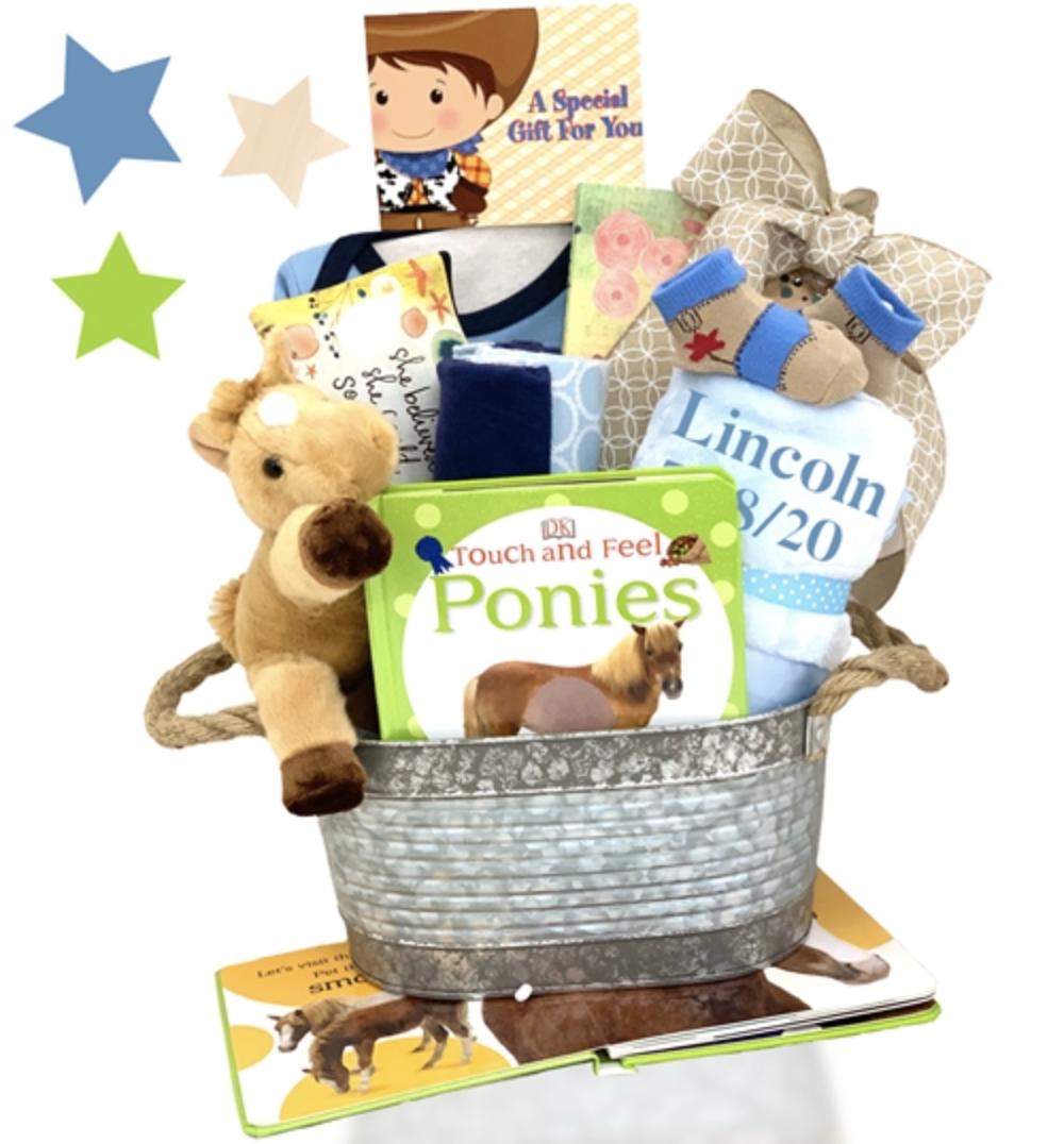 Bundle of Joy Unisex Baby 11 Piece Gift Set in a Wicker Basket by Baby Hamper Gift