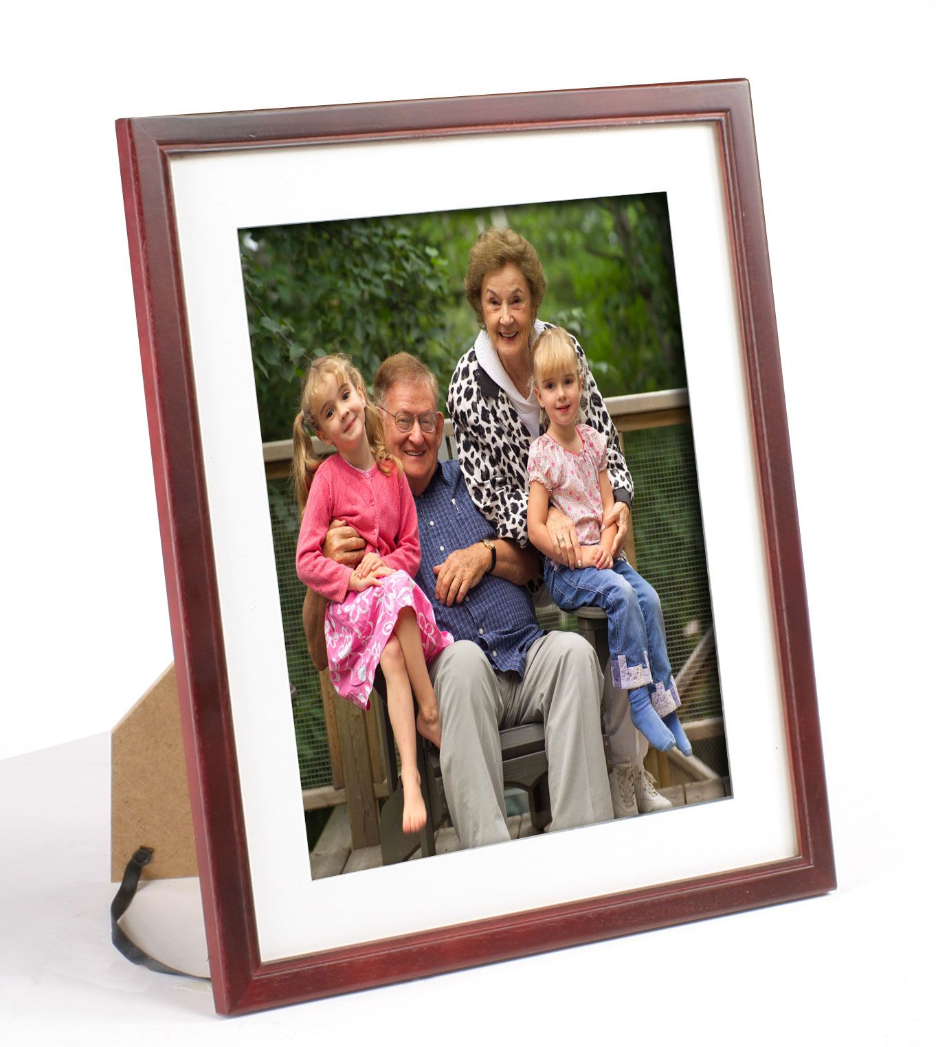 105 X 13 Wood Picture Frame For Table Or Wall Matted To 85 X 11