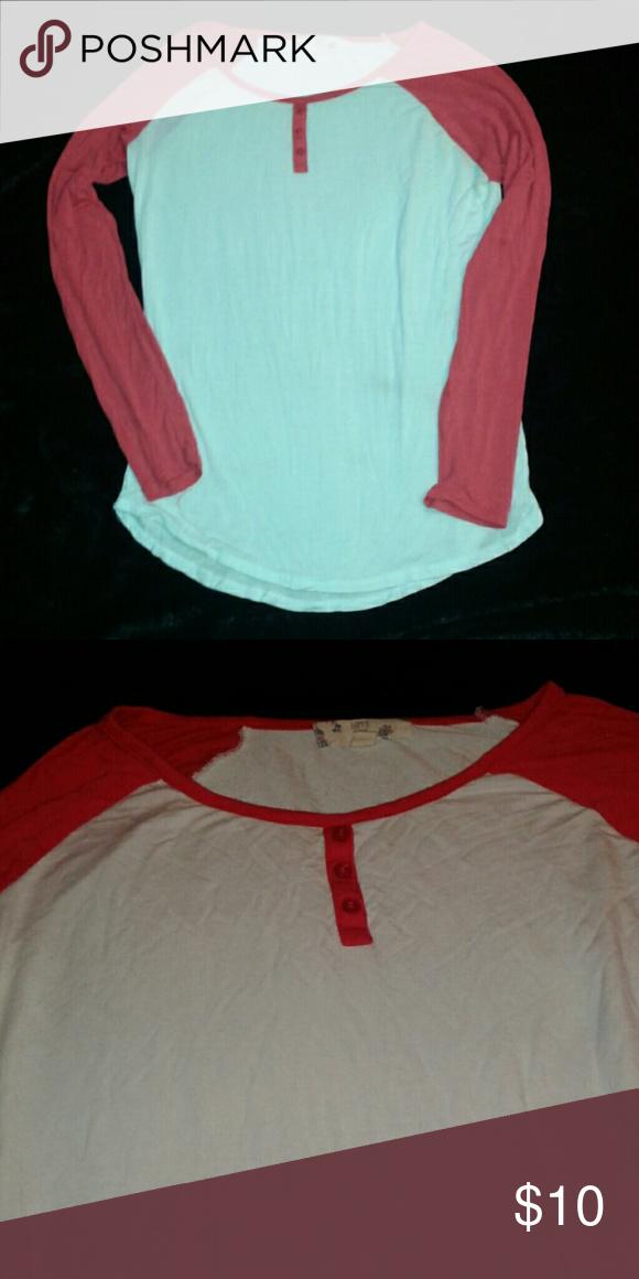 Baseball tee Red , white baseball tee long sleeve Bought