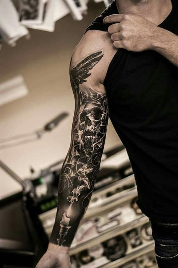 e9d3c668b7b8f Tattoos for Men and Women | Products | Arm sleeve tattoos, Candle ...