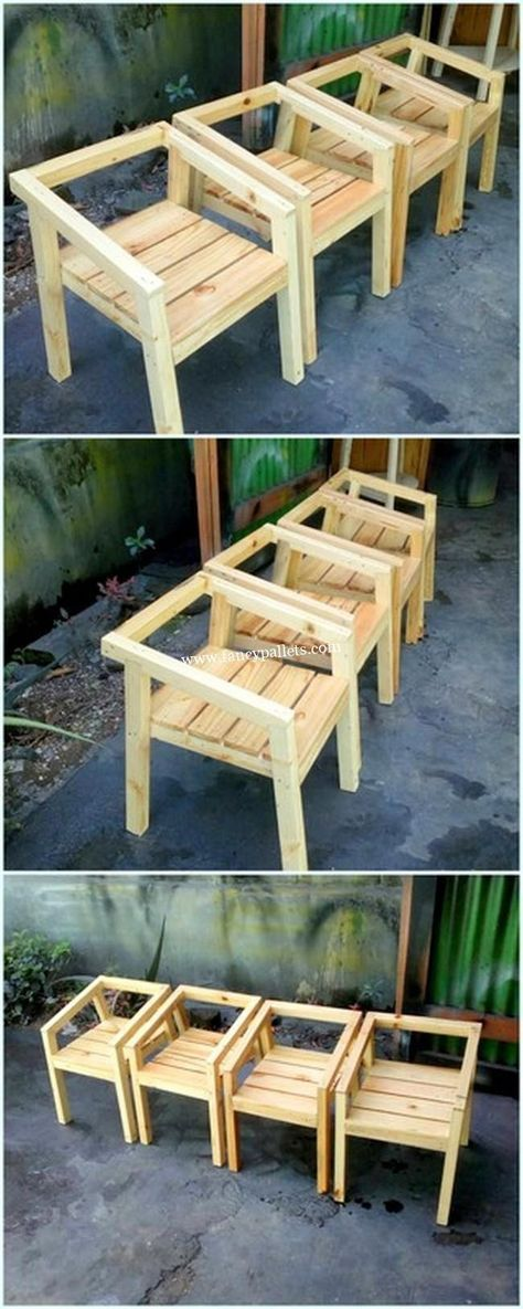 Pallet furniture outdoor chair easy diy 36+ Ideas