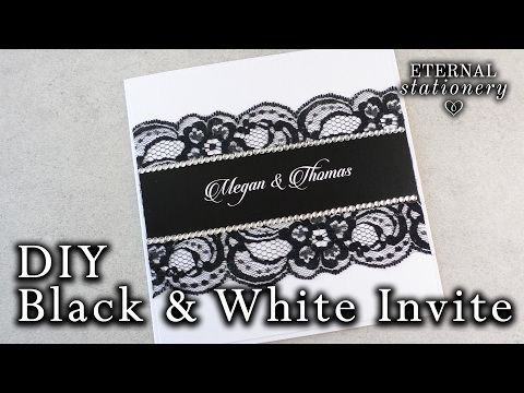 How to make an easy black and white invitation diy wedding how to make an easy black and white invitation diy wedding invitation white ink stopboris Choice Image