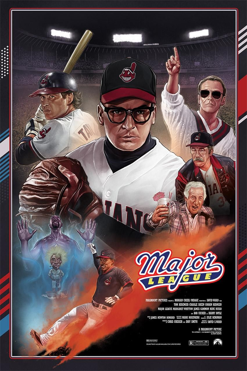 Major League (1989) [850 x 1275]   Baseball movies, Good ...