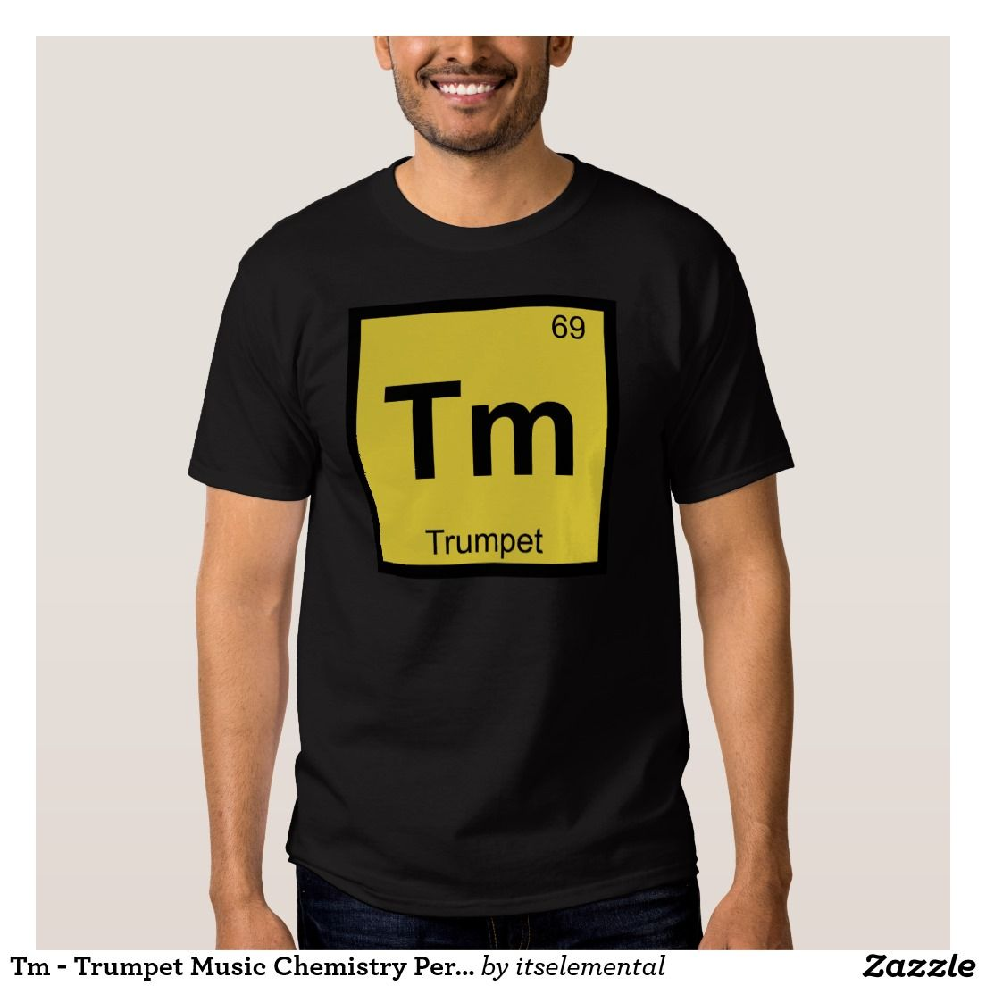 Tm trumpet music chemistry periodic table symbol t shirt shop tm trumpet music chemistry periodic table symbol t shirt created by itselemental urtaz Images