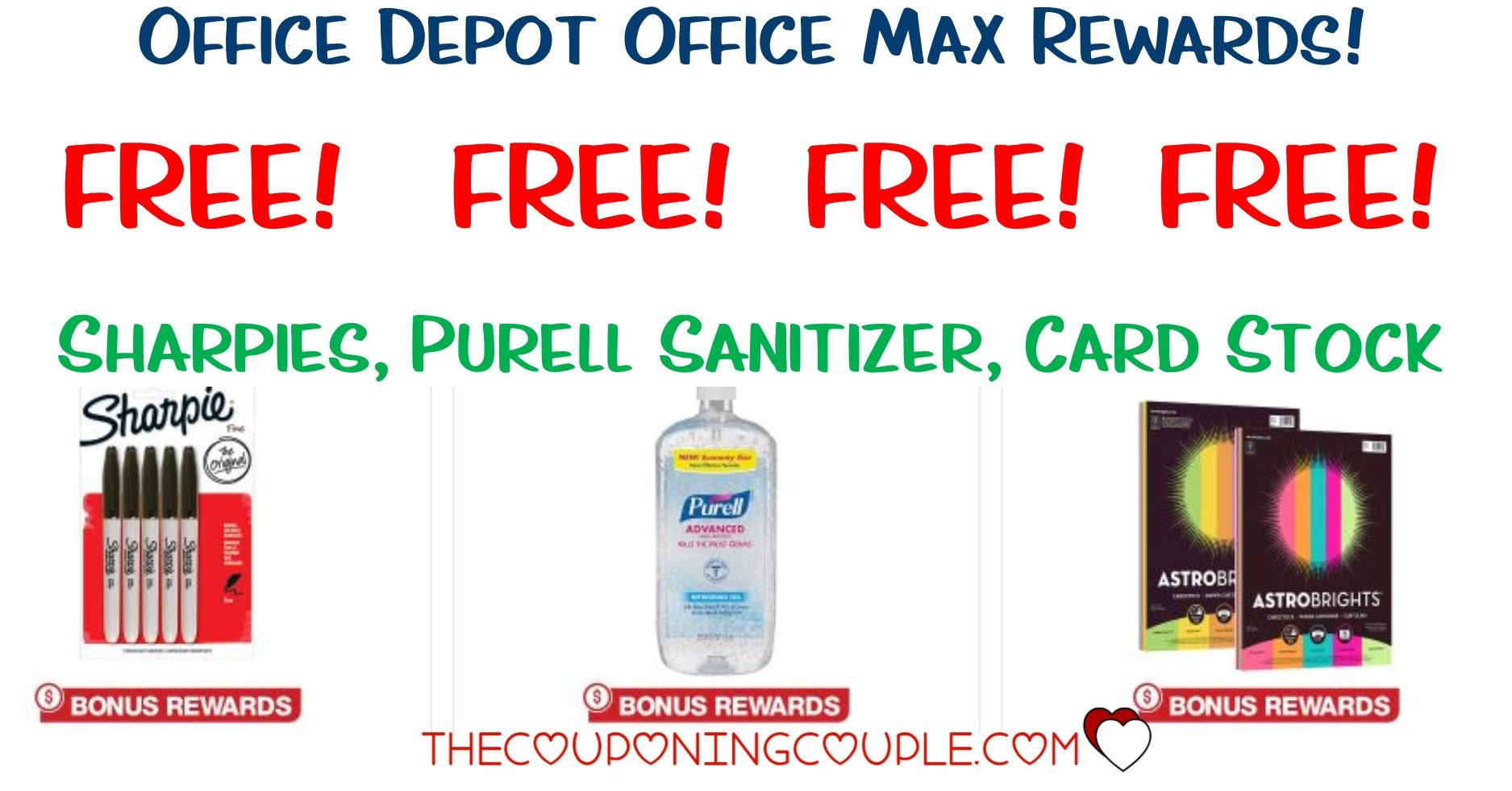 Office Depot Office Max Rewards Free Sharpies Cardstock And