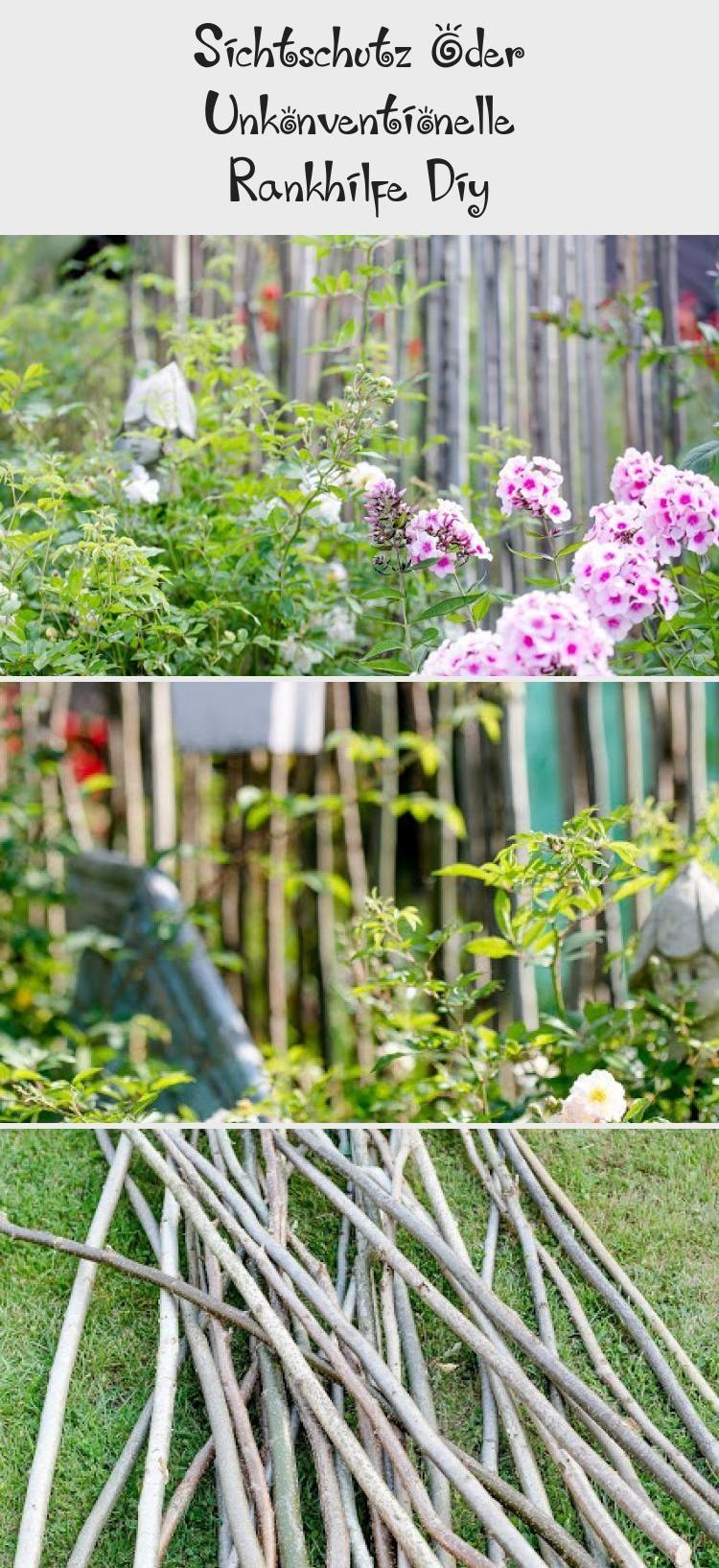Sichtschutz Oder Unkonventionelle Rankhilfe Diy Plants Garden Diy
