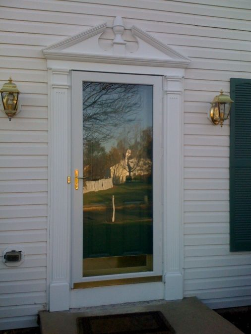 Exterior door trim pediment material carpentry diy for Exterior pediments