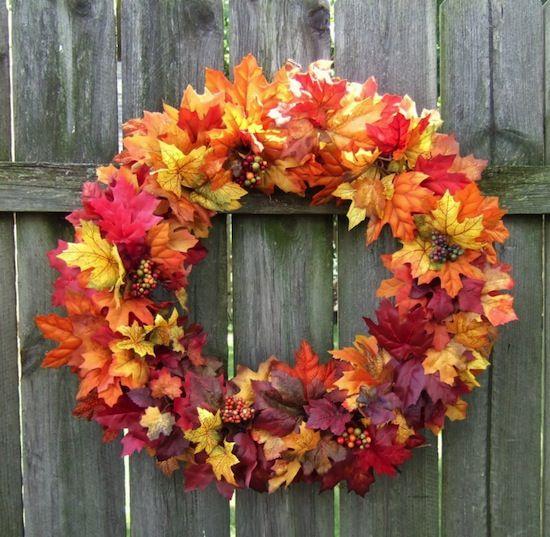 Jesienne Dekoracje Cerca Con Google Fall Leaf Wreaths Fall Wreaths Door Wreaths Fall