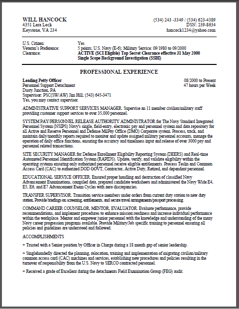 Home Federal Resume Military Sample Example And Get Ideas Create